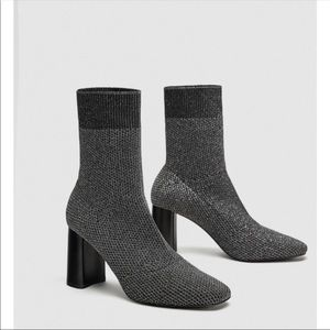 Zara Stretch Sock Ankle Boots